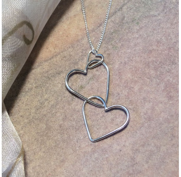 Argentium Silver Chain of Hearts