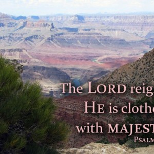 Bible Verse Art - Psalm 93 verse 1 - Grand Canyon Photo - Scripture art, Christian artwork, religious decor, Christian wall art, Bible art