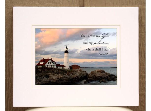 Lighthouse Scripture Art Christian Decor aftcra
