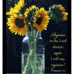 Philippians 4 verse 4 - Religious Art - Sunflowers Photo - Fall Decor - Scripture Art Print, Christian Home Decor, Christian Photo Bible Art