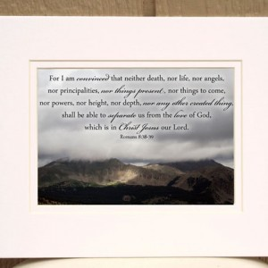 Romans 8:38-39 - Scripture Art  - Storm Clouds over the Rocky Mountains Photo - Christian wall art, religious decor, Christian photo