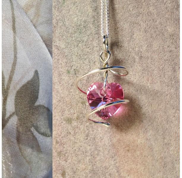 You've Captured My Heart - Argentium Silver Pendant