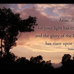 Isaiah 60 verse 1 - Scripture Art - Sunrise Photo - Christian home decor, Bible art, religious decor, Christian gift, religious art