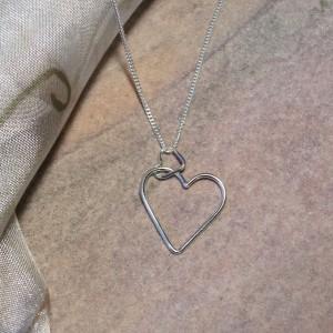 Argentium Silver Hearts Pendant