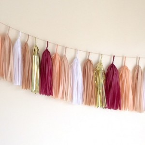 Iron and wine tassel garland // home decor // party decor // event decor