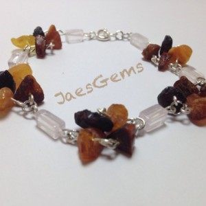 Baltic Amber and Rose Quartz Therapeutic Aid