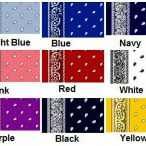 Any Color Twin Size Bandana Quilt  Denim Western Cowboy Blanket Denim Sham
