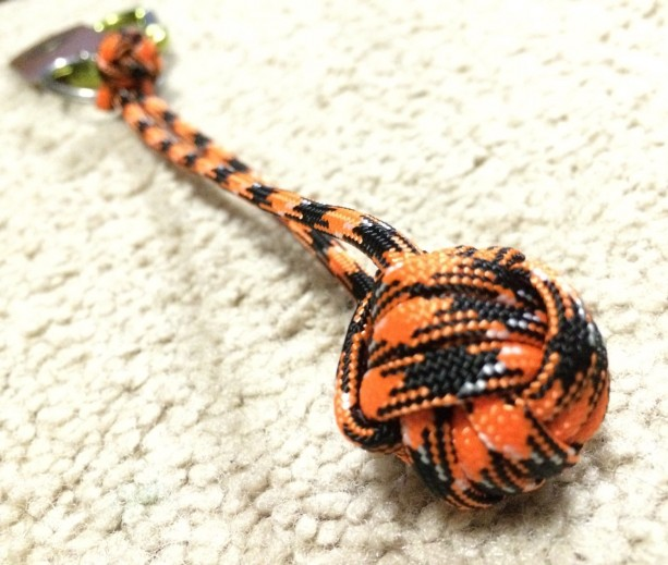 Handmade Custom Paracord Monkey Fist Keychain - Great for survival, Scouts, emergency, camping, hiking