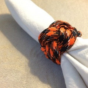 Custom Handmade Paracord Napkin Ring - Set of 2, dining room, kitchen