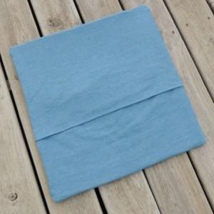 Large Light Blue Bandana Quilted Pillow Denim Backed Sham