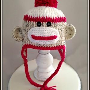Sock Monkey Custom Sock Monkey Crochet Sock Monkey Paul Frank