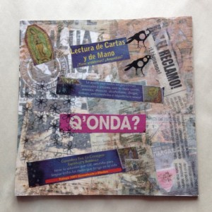 Original Handmade Collage, Q'onda, Spanish Culture Art, 6x6in