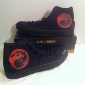 Magic the Gathering, Custom Converse, Gaming, Magic, Handpainted Sneakers