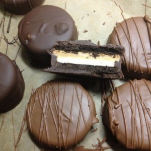 Gluten Free Peanut Butter Filled Chocolate Covered Oreos / K-Toos/ chocolate / unique / gluten free / fun / different /  gift / present / favor / milk / dark /white