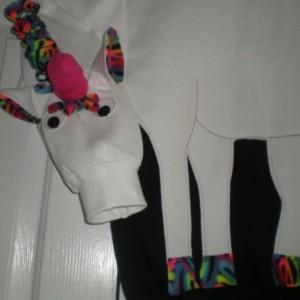 Unicorn sweatshirt, unicorn shirt. Rainbow trim, mystical, magical, adult sizes small to Xlarge. Cosplay