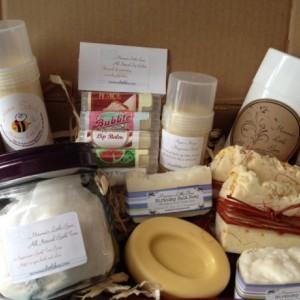 All Natural Bath and Body Gift Basket * Deodorant, Bath teas, Lotion Stick, Lotion Bar, Lip Balm, Soap, Magnesium Butter* Vegan & Organic