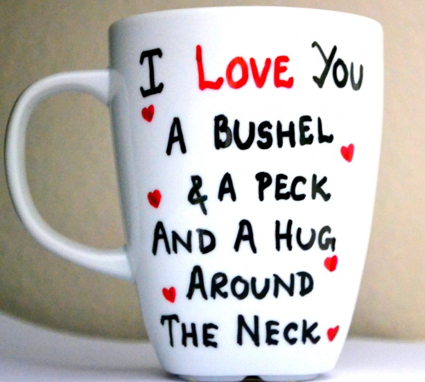 i love you a bushel and a peck coffee mug gift for grandma mo
