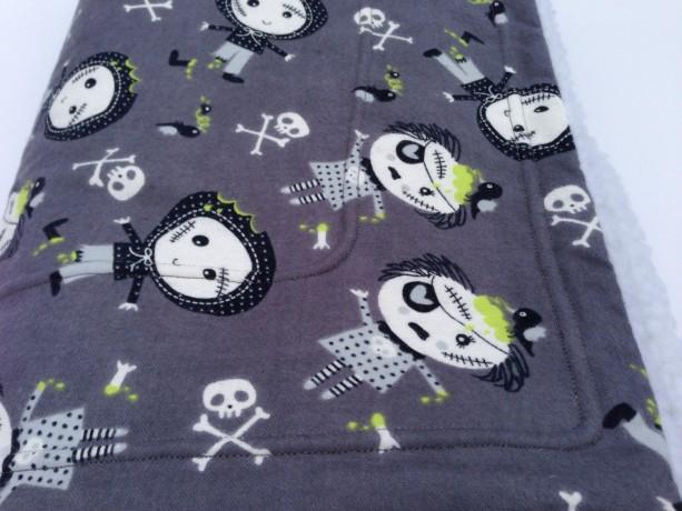 Zombie Flannel Blanket Dog Blanket Halloween Zombie