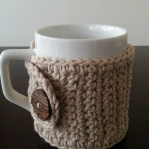 Coffee Mug Cozy in Beige
