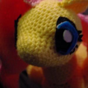 My Little Pony Fluttershy Crochet Amigurumi Plush 12 Inch