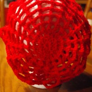 Crochet Spiderweb Slouch Hat
