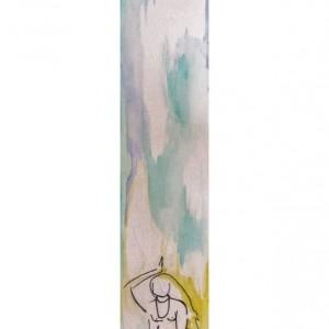 Joy - 4x22inch watercolor zen art