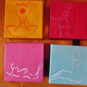 Custom Body Love Mini Acrylic Canvas Art Set