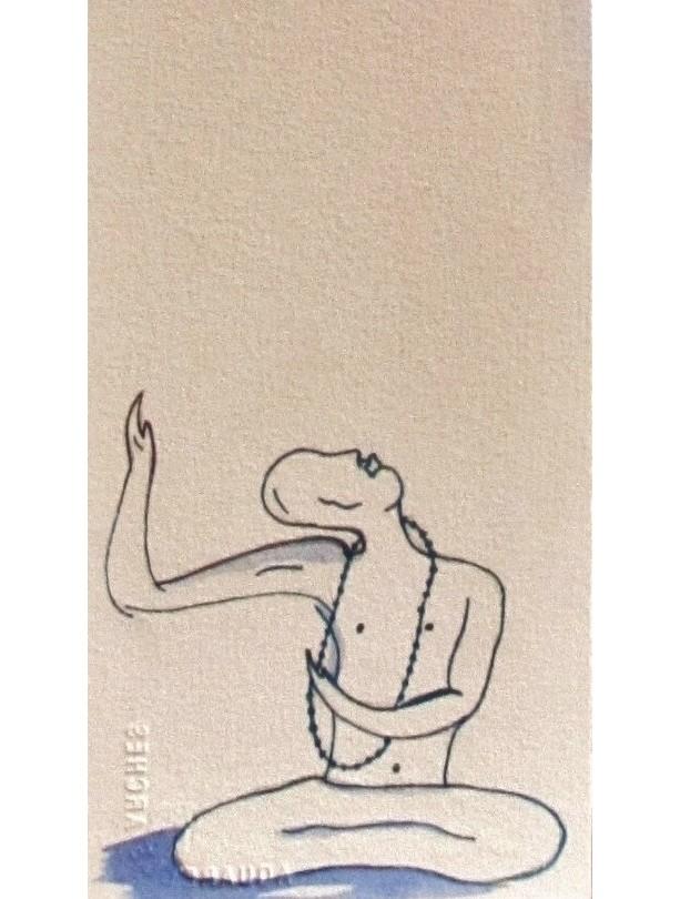 """Watercolor 5x22 """"Siritual Becoming"""" long Zen Painting"""