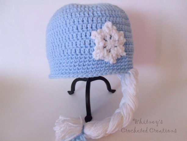 crochet ice queen hat, wig, snowflake, beanie, photo prop, ice princess, halloween, costume, dress up, handmade