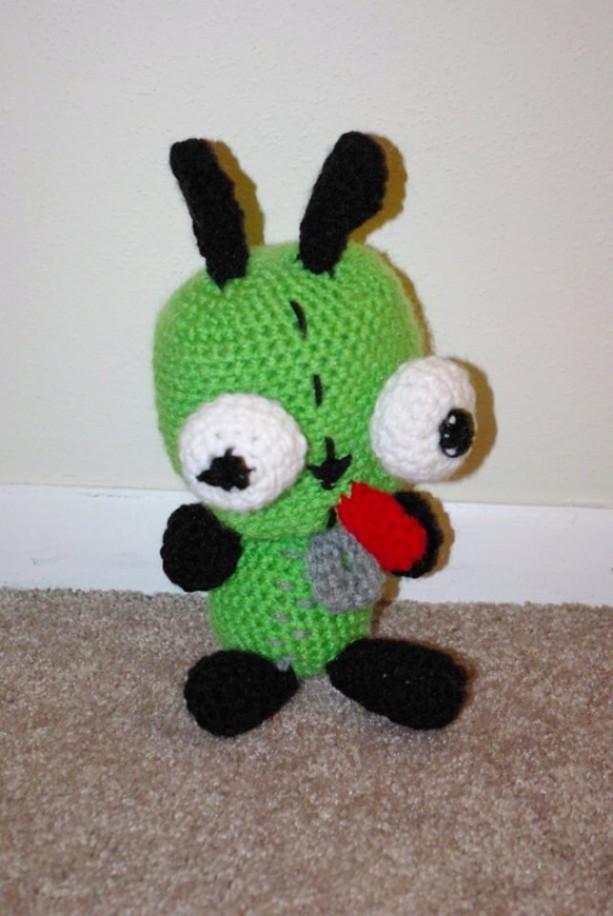 Invader Zim Gir Crochet Plush Amigurumi Doll Aftcra
