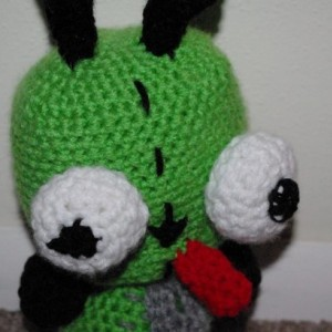 Invader Zim Gir Crochet Plush Amigurumi Doll