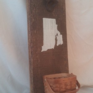Wall Mounted Personalized Rustic Bottle Opener