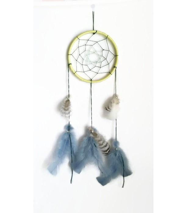 Dream Catcher, Southwestern Decor, Native American Art, Yellow Dreamcatcher, Feathers, Bedroom Decor, Wall Art, Wall Hanging Decor