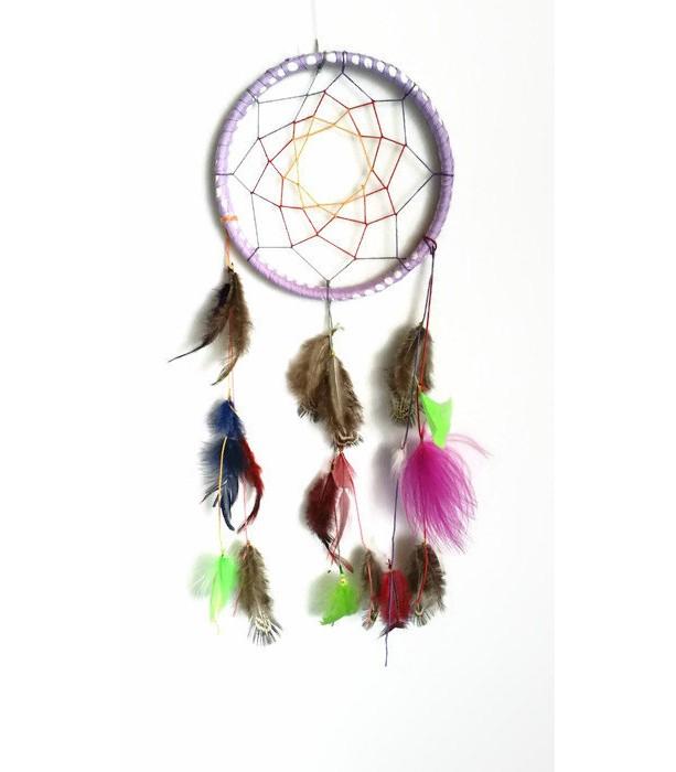 Dreamcatcher Wall Art dream catcher, small 5 inch dreamcatcher, purple feathered wall a