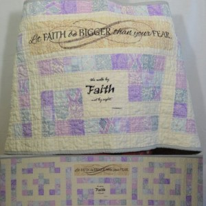 Faith Bigger Than Fear Labyrinth Quilted Prayer Shawl
