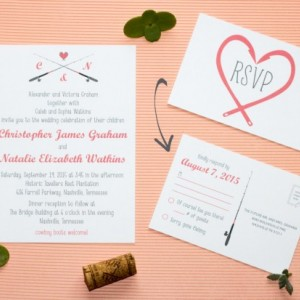 Gone Fishing Wedding Invitation And Rsvp Postcard Modern Design Printable Or Printed Envelopes