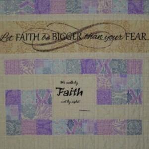 Faith Bigger Than Fear Labyrinth Quilted Prayer Shawl