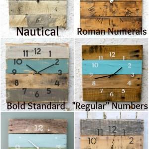 Rustic, natural reclaimed wood clock. No paint No stain. MODERN Meets RUSTIC Custom pallet wood clock