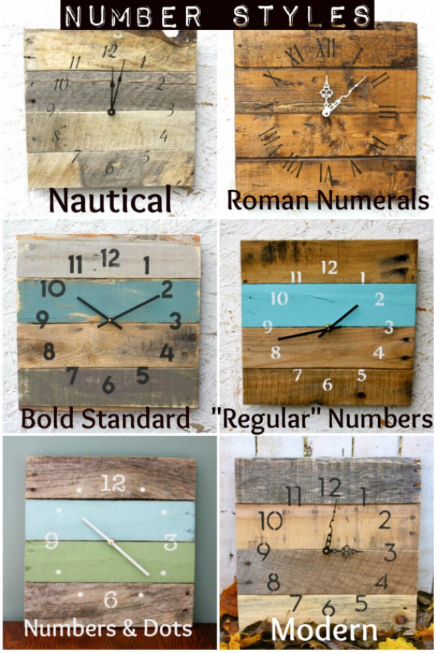 Pallet Wood Clock Beach House Style Recycled Wood