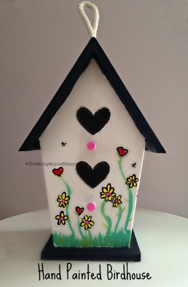 painted birdhouse outdoor birdhouse wooden birdhouse handmade rh aftcra com birdhouse artis birdhouse art pole