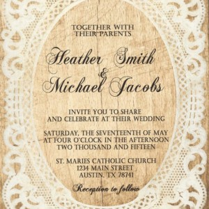 Custom Country Wedding Invitations with RSVP - Rustic Chic Wedding Invitations