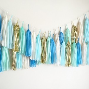 Baby Love Blue Tassel Garland