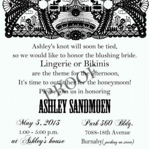 Fiesta Bridal Shower Invitation - Cinco De Mayo Invitation - Day of the dead invitation
