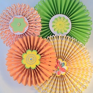 Handmade rosettes to get the party started