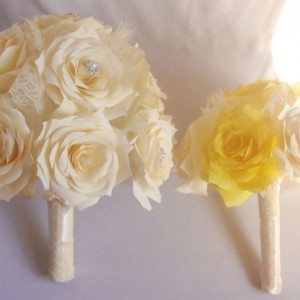 Yellow bridal party bouquet