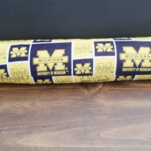 Door draft stopper Door draft blocker Door Snake UNIVERSITY of MICHIGAN Wolverines
