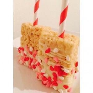 Heart Rice Krispy Treats (Weddings, Baby Showers, Candy Buffets, Dessert Bars)