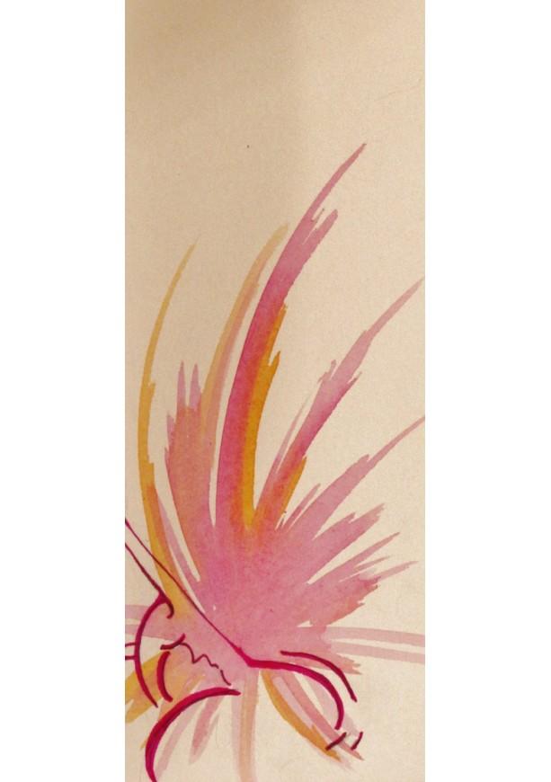 Passion Watercolor Feminine Art Piece