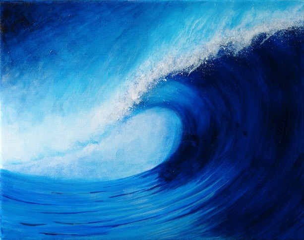 Surf Art Print, Beach Art, Surf Artwork, Ocean Wave Art, Tropical Art, Surfing, Hawaii, Surfer, Surfboard Art, Unique Art, Exotic Art Print