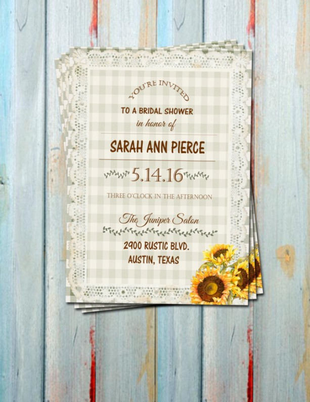 Rustic sunflower bridal shower invitations engagement party inv rustic sunflower bridal shower invitations engagement party invitation country sunflowers filmwisefo